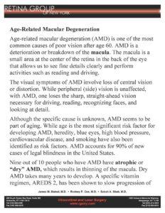 RGONY Handout Age-related Macular Degeneration