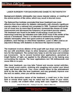 RGONY Handout Laser Treatment for Diabetic Macular Edema