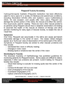 RGONY Handout Plaquenil Toxicity Monitoring image of page 1