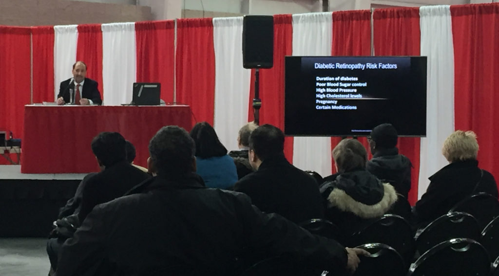 "James M. Maisel, MD, Retina Group of New York, presents ""Diabetic Retinopathy"" at Javits Center Diabetes Education event"