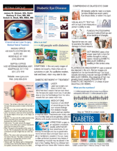 Diabetic retinopathy information sheet © RGONY 2017