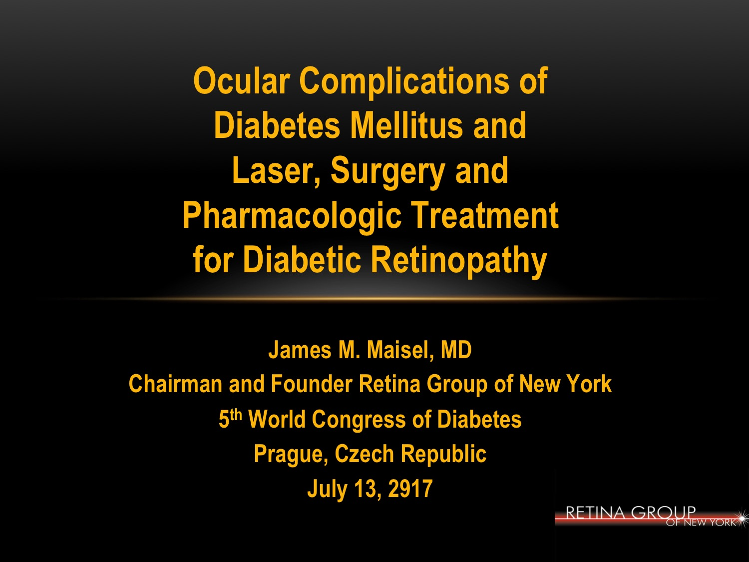 ZyDoc Chairman James M. Maisel, MD Chairs the Epidemiology and Prevention of Diabetes Section at the 5th World Congress of Diabetes 2017 in Prague, Czech Republic